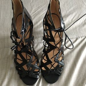 Strappy Lace Up Cage Heels